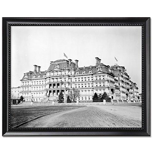 black-wood-framed-print-11x14-dwight-d-eisenhower-executive-office-building-washington