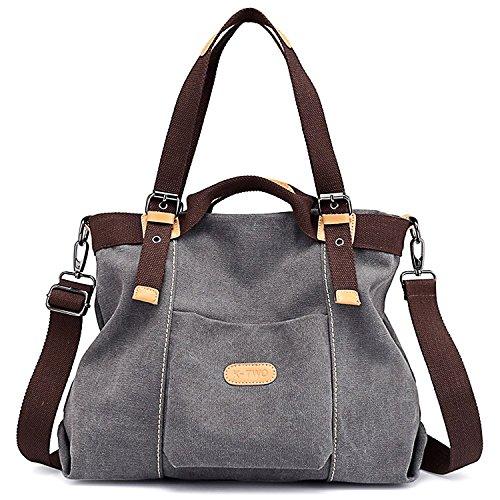 Canvas Handbag, JuguHoovi Casual Hobo Purse Tote Bag Top Handle Handbags Crossbody Bags for ()