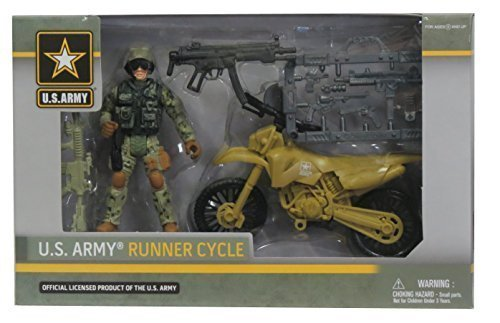Excite U.S. Army Runner Cycle Soldier Action Figure ()