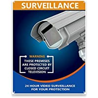 Camera Warning Sign. Warning Alert Sign for home or business. CCTV warning sign may be all you need. This sign was designed to be cosmetically pleasing. USA Made