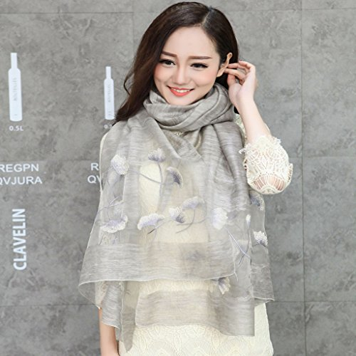 (Nwn Lady Embroidered Scarf Sun Protection Air Conditioning Shawl for Women Multiple Colour (Color : G))