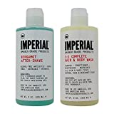 imperial barber aftershave - Bundle-2 Items : Imperial Barber Grade Products Bergamot After-Shave Alcohol Free & Imperial Barber GradeProducts 3:1 Complete Hair & Body Wash