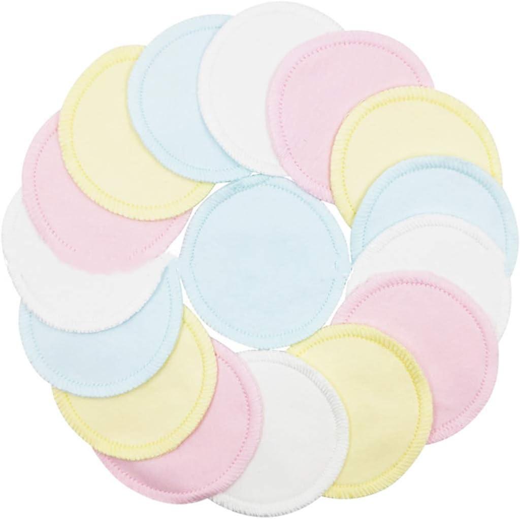 puseky Paquete de 16 Almohadillas desmaquilladoras Reutilizables Almohadillas de algodón natural lavable para el cuidado facial y de la piel con una bolsa de malla