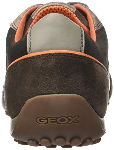 Sneakers Uomo Ebonyc6027 a Top Low Men's Graubraun Snake Geox 6qRfgU6