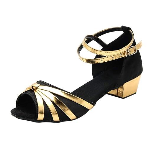 1f5ddbe249b27 Amazon.com: Duseedik Women's Dancing Sandals Fashion Loe Heel Rumba ...
