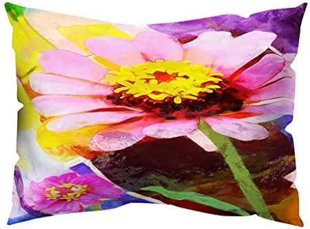 Houshelp Flower Printing Throw Pillow Covers Decorative Pillow Cases Rectangle Cotton Linen Cushion Covers Decor for Couch Sofa Super Soft Pillow Cases Cushion Covers Decorations for Home 30x50cm