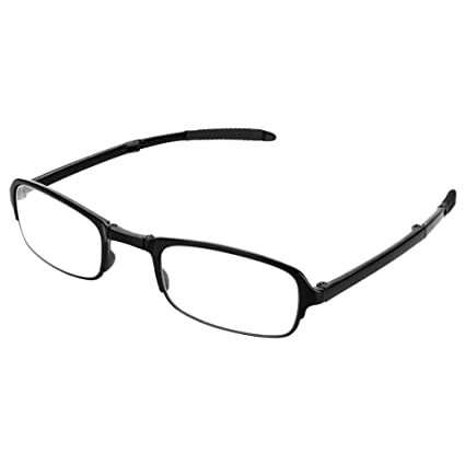 2.5 Gafas de lectura plegables Unisex Port/átil Ligero Plegable Ultrafino Negro Gafas para presbicia Clip port/átil Nariz Gafas presbiculares Estuche para llavero plegable