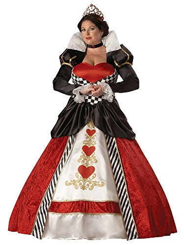 InCharacter Costumes Women's Plus Size Queen of Hearts Costume, Red/White/Black, XXX-Large - Plus Size White Queen Halloween Costume