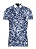 J.Lindeberg Men's Slim Fit Tour Tech Tx Jersey Polo Shirt, Ocean camo el, XX-Large