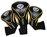 Pittsburgh Steelers Golf Club Head Covers 3 Pack by Team Golf