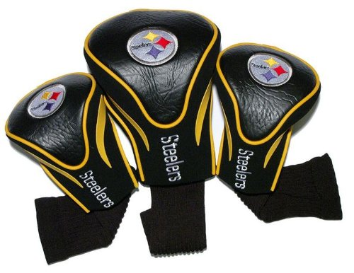 (Pittsburgh Steelers Golf Club Head Covers 3 Pack by Team Golf)