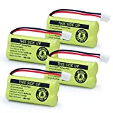 #7: XUNTU 2.4V Rechargeable Battery For AT&T and Vtech Phones BT18433 BT184342 BT28433 BT284342 BT-8300 BATT-6010 BT1011 BT1018 BT1022 BT1031 89-1326-00-00 /89-1330-01-00 / CPH-515D(Pack of 4)