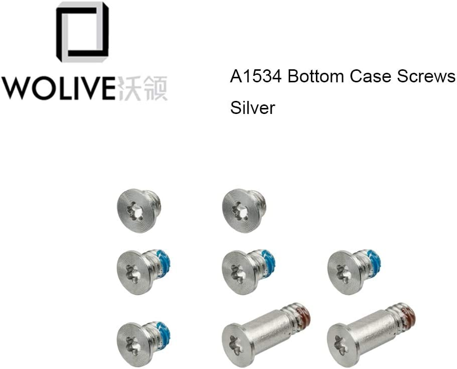 Cable Length: Silver, Color: 5pcs Computer Cables Silver Bottom CASE Screws P5 PENTALOBE for MacBook Retina A1534 2015 2016 2017