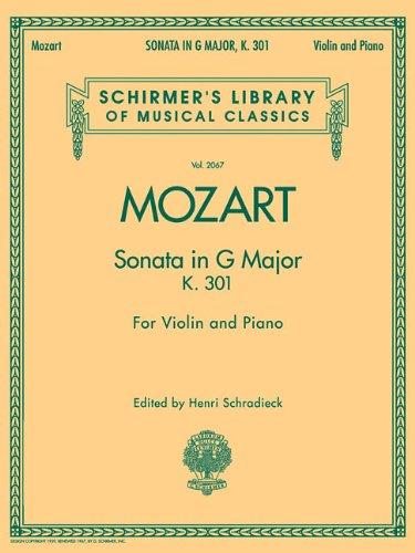 Sonata in G Major, K301: for Violin and Piano (Schirmer's Library of Musical - Schirmer G Strings Violin