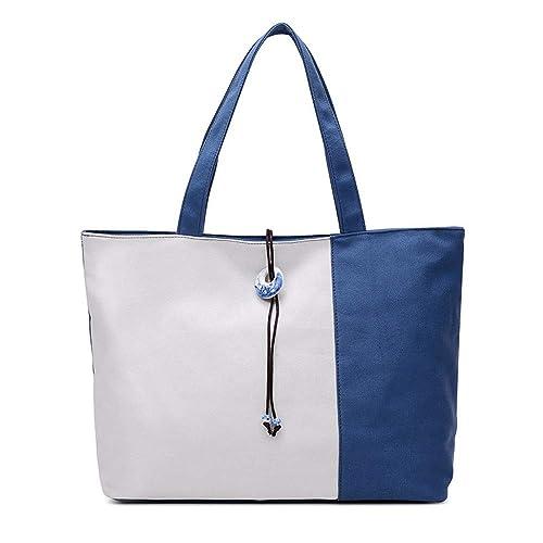 bc960f3479a XMY Bolso bandolera bolso azul y blanco lienzo decorativo simple, azul:  Amazon.es: Zapatos y complementos
