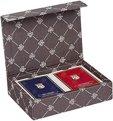 Dal Negro 804521 – Puerta Tarjetas de Juegos Prestige Color Poker y Ramino, marrón: Amazon.es: Juguetes y juegos