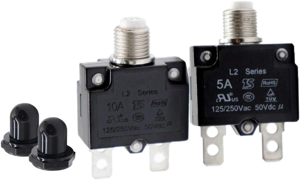 KESOTO 2X 5A 10A Schutzschalter Thermischer Schutzschalter Generator