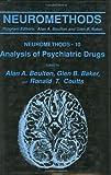 Analysis of Psychiatric Drugs, , 0896031217