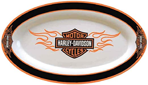 Amazon.com: Harley-Davidson Bar & Shield en llamas Plato ...
