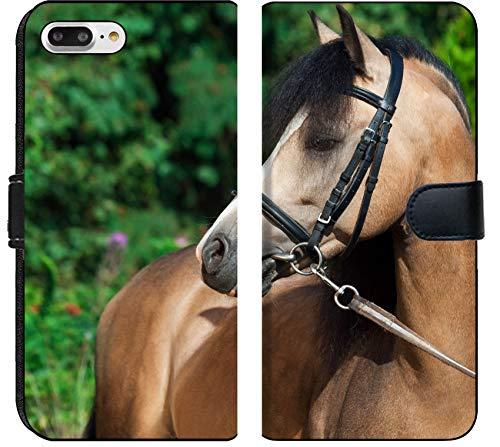 Apple iPhone 7 Plus and iPhone 8 Plus Flip Fabric Wallet Case Image ID 36301649 Portrait of Beautiful Buckskin Welsh Pony