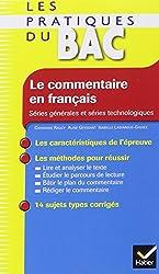 Les Pratiques du Bac - Le commentaire en français