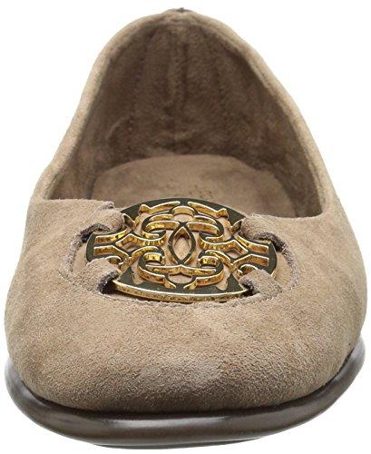 Daim Féminin Haute En Cuir Taupe Chaussures Exhibet Plates Cheville Aerosoles UPIqxwEU