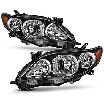 Right RH Passenger Side Chrome Headlight Lamp Assembly for 03-08 Toyota Corolla