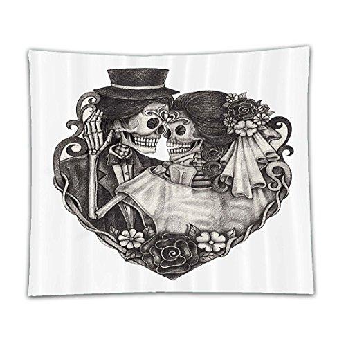 Death Costume Bleach God (Beshowereb Fleece Throw Blanket Tattoo Decor Throne of Mythological Hell Gate Artisan Afterlife Scene Death God Sin Souls Decor Set)