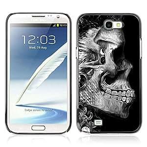A-type Arte & diseño plástico duro Fundas Cover Cubre Hard Case Cover para Samsung Galaxy Note 2 II / N7100 ( Psicodélico cráneo Pintura )