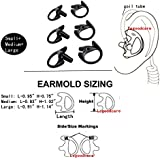 Lsgoodcare Replacement Earmold Earbud Black Compatible for Motorola Kenwood Midland 2 Way Radio Acoustic Coil Tube- Small, Middle and Large Soft Walkie Talkie Ear Piece Ear Buds Ear molds Left Right