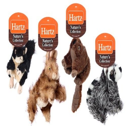 Hartz Nature's Collection Woodland Animal Plush Dog Toys - Small, 4-Pack
