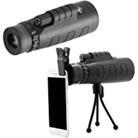 SAIELLIN Mobile Lens 40x60 hd Monocular Telescope with Mini Tripod and Mobile Camera Clip for All Mobile Phones (Panda Lens)