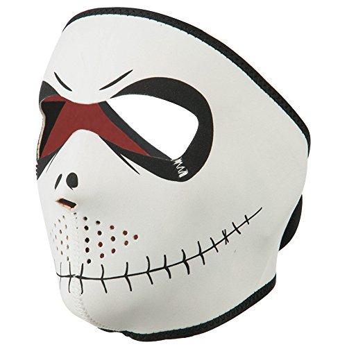 Reversible Neon Neoprene Full Face Mask - Neon Orange OSFM]()
