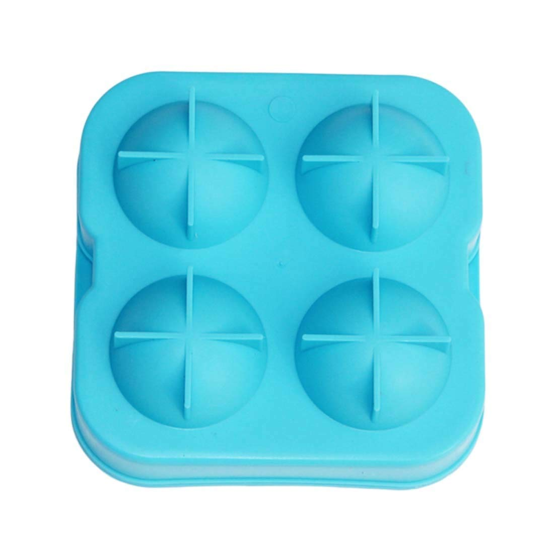 Ice Cream Tubs - 1pc 4 Large Silicone Ice Molds Maker Cocktail Whiskey Ball Cube Tray Bar - Freezer Tubs Lids Girls Disposable Cream Cream Tubs Cube Maker Commercial Round Cocktail Rubber Tra
