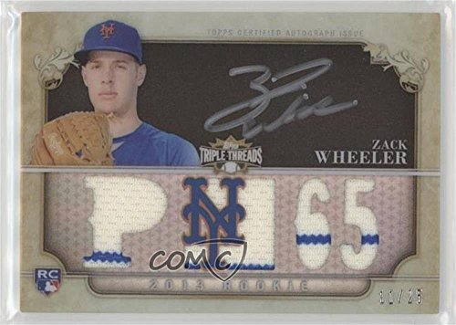 Zack Wheeler #11/25 (Baseball Card) 2013 Topps Triple Threads - Rookie and Future Phenom Autographed Relics - Black Silver Ink #ZAWH