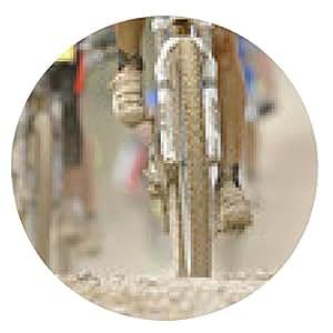 alfombrilla de ratón montaña de la aventura en bicicleta del desierto - ronda - 20cm