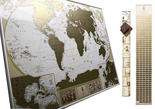 MyMap Deluxe Large World Scratch Off Map w/