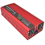 Cantonape 1000W/2000W(Peak) DC 12V to 110V AC Power Inverter Converter with 3.1A USB Car Adapter and cigarette lighter for Car Home Laptop Truck