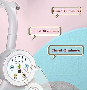 mu/ñeca y almohada,Pink/_66X69X80CM control remoto Port/áTil Hamaca Bebe 5 velocidades de swing Mecedora Bebe con m/úsica BYCDD Electrico Hamacas Para Beb/é