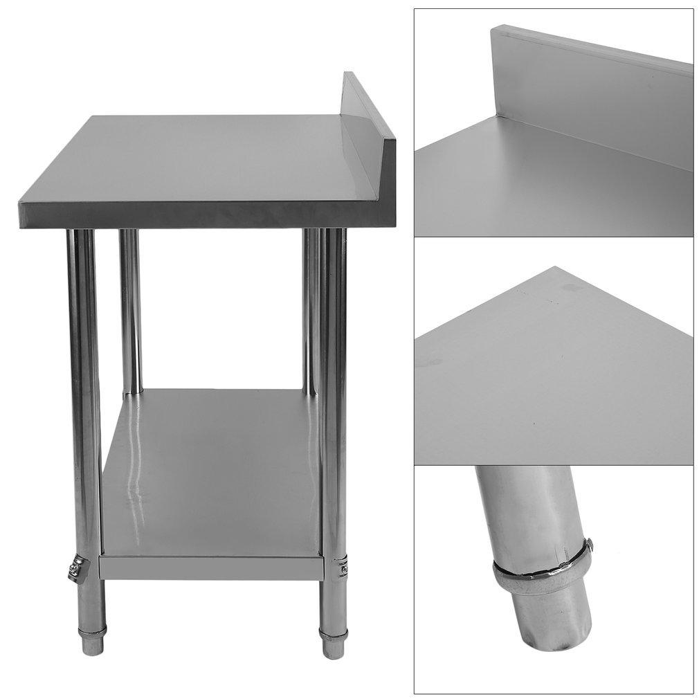 Acero inoxidable trabajo para mesa de hostelería 100 x 60 x ...