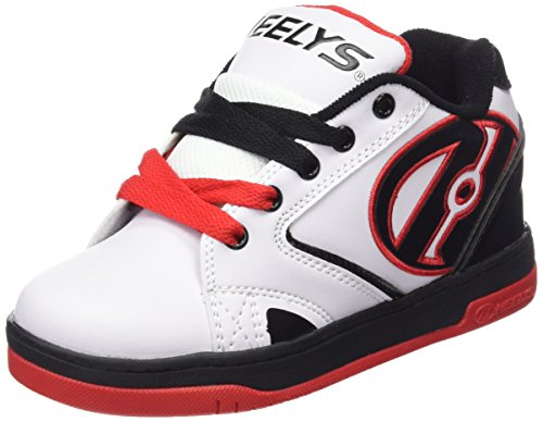 Heelys Propel 2.0 Sneaker (Little Kid/Big Kid), White/Black/Red, 6 M US Big Kid by Heelys