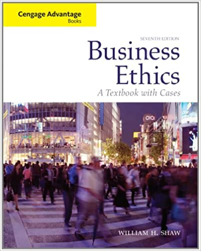 Amazon business ethics a textbook with cases cengage amazon business ethics a textbook with cases cengage advantage books 9780495808763 william h shaw books fandeluxe Gallery
