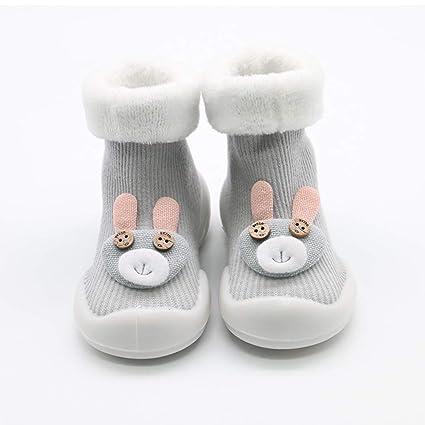 ec91883e9548a Bébé chaussons antidérapants nouveau-né nourrisson doux tricot hiver chaud  berceau chaussures enfant chaussures de
