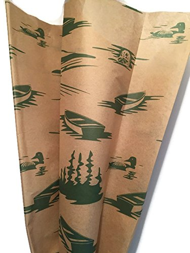 Nature Inspired GREAT OUTDOORS Printed Tissue Paper for Gift Wrapping, 24 Large Sheets, 20x30 (Masculine Paper)