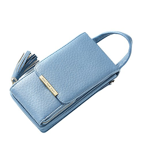 Phone Women Messenger Bag Phone With Money Crossbody Multi For Cell Clutch Gift Fashion Pocket Mobile Card Purse Pouch Hand Elegant Shoulder Soft Leather PU Blue Bag For Multifunction qFgw05z