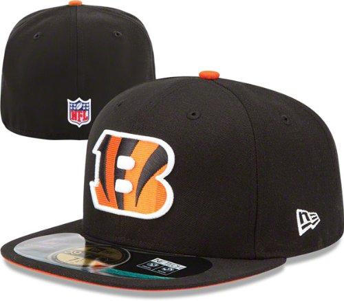 NFL Child Cincinnati Bengals On Field 5950 Black Game Cap By New Era