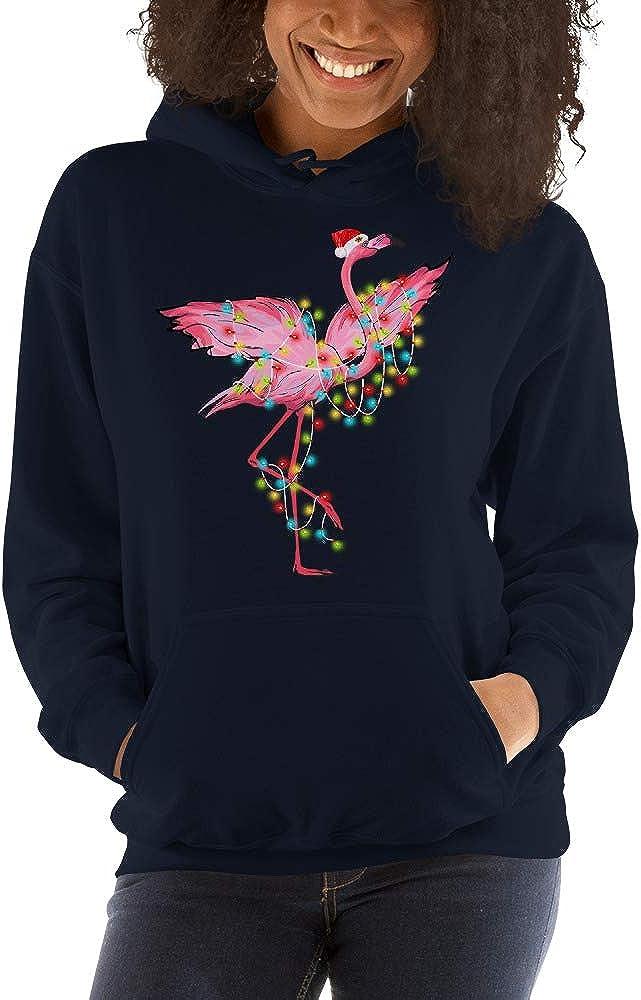 Funny Flamingo Christmas Light Xmas Gift Unisex Hoodie