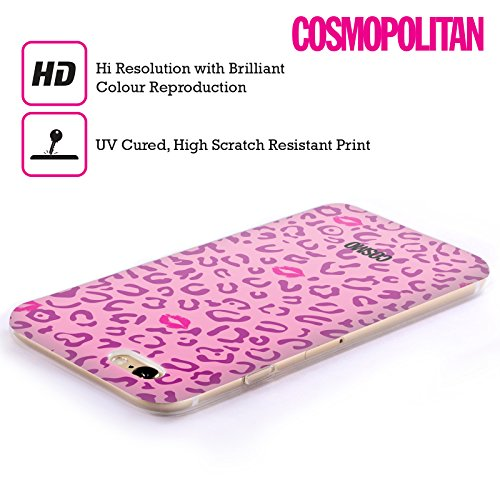 Official Cosmopolitan Violet And Pink Sassy Leopard Soft Gel Case for Apple iPhone 5 / 5s / SE