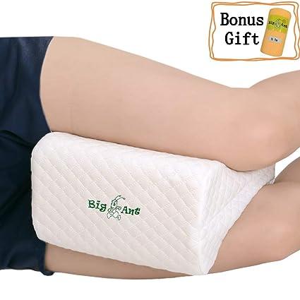 Dormire Con Un Cuscino Tra Le Gambe.Big Ant Cuscino Ginocchio Memory Foam Per Ortopedico E Dolore