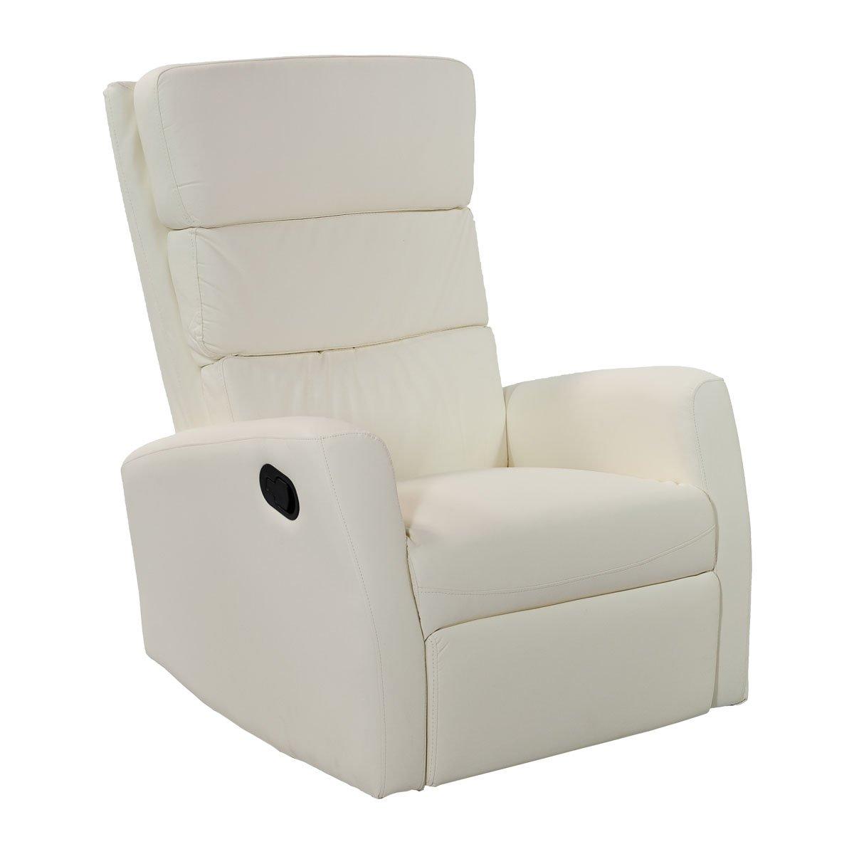 poltrone-italia Sillón relax reclinable balancín y giratorio ...